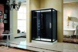 完了しなさい黒いボードおよびガラス(K9750)が付いているサウナの蒸気のシャワー室を