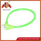 Sicherheits-Stahlkabel-Verschluss-Fahrrad-Verschluss der Farben-Jq8210 fünf