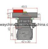 6-380V de ver*lichten-vierkante Schakelaar van de Drukknop van het Type
