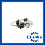 Válvula asséptica manual da amostragem da cabeça do botão da volta do aço inoxidável