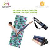 toalha 2-in-1 e esteira com aperto Non-Slip. Igualmente aperfeiçoar para Ashtanga e Pilates.
