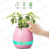 Potenciômetro de flor esperto do toque da música clara do diodo emissor de luz do altofalante do Flowerpot de Bluetooth
