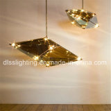Modern Popular Smoky Diamond Suspensão LED Glass Maxhedron Pendant Lamp