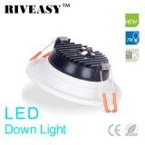 7W LED Down Light Downlight Éclairage Blanc Ce & RoHS LED Plafond