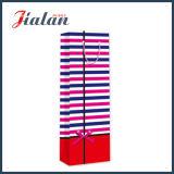 Rosafarbener Punkt-Entwurfs-kundenspezifischer Firmenzeichen-billig gedruckter Papierwein-Beutel