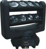 8*10W 백색 LED 이동하는 맨 위 거미 광속 빛