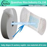 Jumbo Roll Airlaid Paper pour serviette hygiénique pour femme ultra-fine