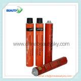 Tubo plegable de aluminio vacío cosmético de empaquetado poner crema del color del pelo