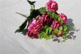 Flores de seda artificial de hortensia para ramo nupcial