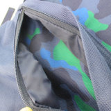 Blau Camouflages Printed Polyester Back to School Rucksack für Boy