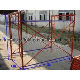 Marco del andamio de la construcción