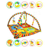 Гимнастика деятельности при младенца, циновка игры нот для малыша, закрутка и игрушка створки с съемными вися животными