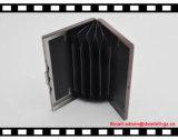 Шикарный Unisex алюминиевый держатель кредитной карточки удостоверения личности металла с эластичной резиновой лентой