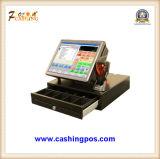 Registo de dinheiro terminal eletrônico da posição para o sistema Point-of-Sale QC-355