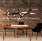 Luz italiana do pendente da filial do diodo emissor de luz do restaurante G9 da arte da suspensão de Metal&Glass do estilo