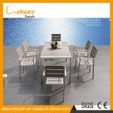 Heißer Verkaufs-haltbarer Garten im Freien hölzernes AluminiumCharir Tisch-Plastikset