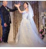 2017년 공단 Organza 신부 결혼 예복 6837