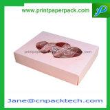 La boda favorece la caja de embalaje de empaquetado de la torta de chocolate del rectángulo del regalo