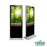 Крытый пол 55 дюймов стоя индикация рекламировать экрана LCD касания OLED