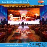HD volledige LEIDENE van de Huur van de Kleur P1.667 Binnen VideoMuur