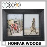 Frame de madeira da foto do retrato da prata Desktop da decoração