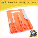 Ножи нержавеющей стали установили с разделочной доской (RYST051C)