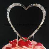 Cappello a cilindro della torta di cerimonia nuziale del cuore del cappello a cilindro della torta del Rhinestone di Mr&Mrs