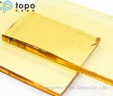 8mm gelbes Gebäude-Glas des Beleuchtung-Glas-/Goldenart (CY)