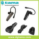 Auriculares de Bluetooth com estação do cabo do carregador do carregador do carro e do carregador