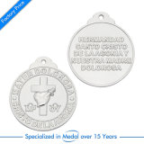 Custom Zinc Alloy Silver Football / Médaille de football pour le jeu invitational
