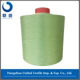 Verde teñido droga 100% del pavo real del hilado del poliester que teje DTY (150D/48F NIM)