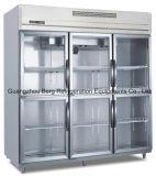 Холодильник кухни двери нержавеющей стали стеклянный