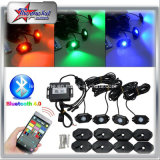 4 Pods RGB LED Rock Light Underbody Coches Motocicleta de Barco