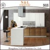 Modules de cuisine en bois de placage de forces de défense principale de couleur de meubles blancs de maison