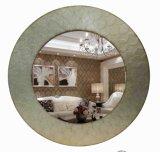 Runder handgemachter Blatt-Spiegel-Wand-Spiegel für Hauptdekoration