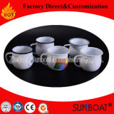 Decalque de Sunboat Canecas de copos de esmalte por atacado Caneca de café de chá de esmalte Copo + Louça de mesa