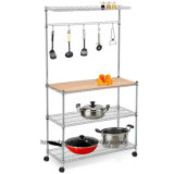 Kitchen Rack with Bottles Shelf for Home Display Stand Shelf