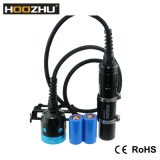 Lampe visuelle de plongée de boîte de la lumière 4000 LM de plongeon de Hoozhu Hv3 pour le vidéo avec les batteries 2X 32650