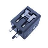 Wir BRITISCHER EU-Au-Universalstecker Doppel-USB-Aufladeeinheits-Arbeitsweg-Adapter für weltweit