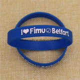 Custom Cheap Rubber Printed / Embossed / Debossed / Luminous Silicone Bracelet Wristband with Logo