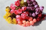 Venta al por mayor baratos de seda rosa flores artificiales de rosa para el hogar / decoración de la boda