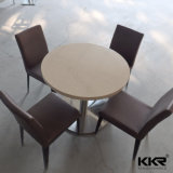 Table de salle à manger en acrylique en marbre en acrylique moderne