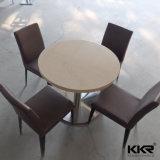 Mesa de jantar de mármore de excelente superfície de acrílico de mesa de jantar de design moderno