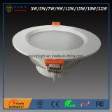 18W LED abajo se encienden con alta calidad y dimensión de una variable del precio bajo y con estilo