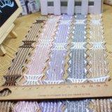 Merletto netto di nylon della maglia di immaginazione della guarnizione del ricamo del poliestere del merletto del commercio all'ingrosso 3cm della fabbrica di larghezza del ricamo del filetto di riserva dell'oro per l'accessorio degli indumenti & le tessile domestiche