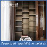 Personalizado antiguo Barass acero inoxidable Librería / Porta Libros para sala de estar