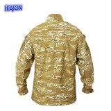 Chaqueta impresa reactiva de los uniformes militares del camuflaje del desierto