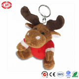 Urso macio Keychain da peluche do luxuoso do Dr. Oetker Bege Brown Bonito