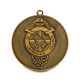 Médaille en laiton antique personnalisée d'honneur de sport d'université
