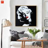 Pop Olieverfschilderij van het Canvas van het Portret van de Ster op Af:drukken